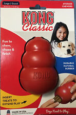 KONG Classic Dog Rubber Chew Toy - Medium, Red