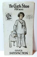 1920s The Clark Shoe for Boys, ink blotter ad, boy with pet bulldog