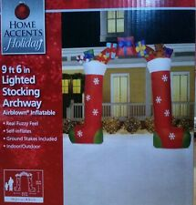 NEW 9.5 Christmas Stockings Archway Gifts Inflatable Airblown Outdoor Decoration