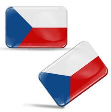 3D Aufkleber Czech Tschechien Fahne Tschechische Republik Flagge Flag Sticker
