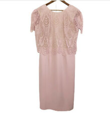 Dress the Population New Kenna Lace Popover Bodice Dress, Blush Plus Size XL