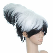 Black and White Short Length Anime Cosplay Costume Wig