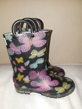 Yokids Butterfly Rain Boots Youth Size 12