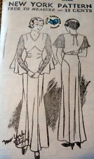Rare Vtg 1930s Dress New York Sewing Pattern Bust 42 Ff