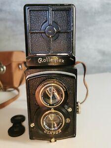 Rolleiflex Compur Francke & Heidecke Carl Zeiss Tessar 1:3,8 f=7,5cm mit Tasche