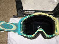 Oakley Crowbar Ski Goggles, Animalistic Turquoise/Dark Grey.NEW.