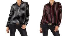 Gestreifte Damen-Blusen Damenblusen, - tops & -shirts mit V-Ausschnitt