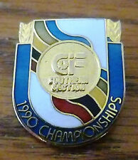 "1990 CIF Southern Section Championships Pin 9/16"" wide 1"" tall"