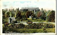 Scene in the Burton Gardens Cedarhurst Long Island NY Vintage Postcard BB1