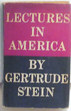 GERT.STEIN-LECTURES IN AMERICA-1stEd,1stPr 2ndBinding-HC/DJ 1935- LIGHTLY READ