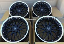 """19"""" BLACK/POLISHED LIP MRR GT1 WHEELS 19x8.5 +35/19x9.5+25 5x120 FITS BMW E46 M3"""