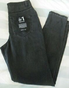 Womens New Noisy May Dark Grey Ripped Jeans Trousers - Size W 28