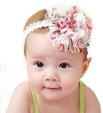2pcs Baby Flower Headband Girl Lace Infant Hair  Accessories New from USA seller