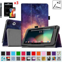 """Case Cover For RCA Voyager I / II / III 7"""" 2016 2017 Voyager Pro 7 + 3xProtector"""