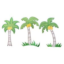 ID 1770ABC Set of 3 Palm Tree Patches Tropical Embroidered Iron On Applique