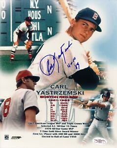 Carl Yastrzemski (HOF) Signed and Authenticated (JSA) 8x10 Photo - Red Sox