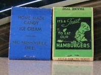 Vintage Matchbook Cover B9 Lot Oregon Canby McMinnville Texaco Blue Moon Perkett