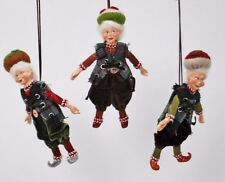 Katherine's Collection Set of Three Gnome 8 inch Ornaments 28-530453