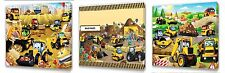 My first JCB  Kids canvas wall art plaque pictures set of three