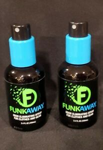 2 PACK NEW 3.4oz FUNKAWAY Odor Eliminating Spray For Shoes, Clothes & Gear
