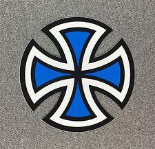 Independent Truck Cut Cross Skateboard Sticker 4in blue si