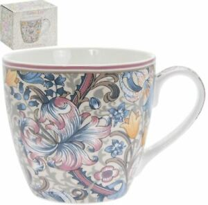 OFFICIAL WILLIAM MORRIS GOLDEN LILY PINK COFFEE MUG CUPS NEW IN GIFT BOX