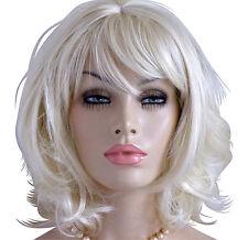 Perücke blond wie Echthaar Perücken Wig mittellang