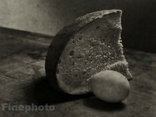 1951/78 JOSEF SUDEK Vintage Czech Photo Gravure ~ BREAD EGG FOOD Still Life Art