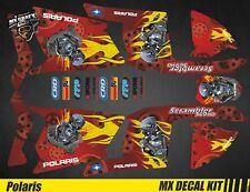 Kit Déco Quad / Atv Decal Kit Polaris Scrambler - Motor Skull Red