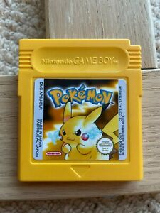Pokemon Yellow Gameboy Colour - New Battery/Great Condition/New Label - Pikachu