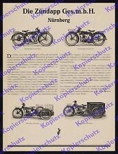 Or. publicitarias! Zündapp motocicleta em249 motordreirad recuadro-furgonetas nuremberg 1927
