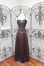 L43 DA VINCI SZ 8 1015 BROWN CHOCOLATE FULL LENGTH BRIDESMAID PROM GOWN DRESS