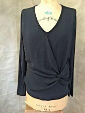CREA CONCEPT Women Casual Black Jersey Sheer Top 42 10 Art-To-Wear TWIST KNOT L