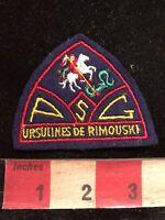Vtg Quebec School URSULINES DE RIMOUSKI Canada Patch 83YC