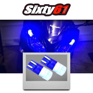 Motorcycle Blue LED Side Marker Light Parking Bulbs for Kawasaki Suzuki Yamaha