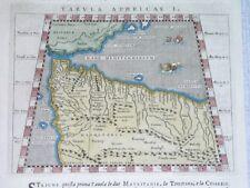 1598 PTOLEMY ORIGINAL MAP OF AFRICA MOROCCO ALGERIA GIBRALTAR MAURITANIA Magini