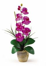Nearly Natural 1016-OR Phalaenopsis Silk Orchid Flower Arrangement NEW