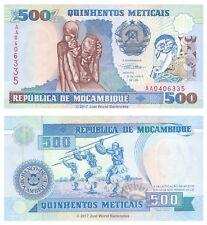Mozambique 500 Meticais 1991 P-134 1st Prefix AA Banknotes UNC