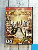 Sid Meier's CIVILIZATION IV 4 Colonization PC CD-Rom Game - Case, Disc