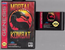 SEGA GENESIS MORTAL KOMBAT  WITH BOX AND INSTRUCTION MANUAL MINT & WORKS GREAT