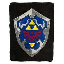"Legend of ZELDA Licensed XL 60"" HYRULE Link's Shield FLEECE Micro Plush BLANKET"