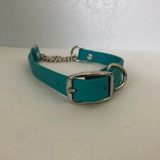 "martingale dog collar Large Teal Biothane Vegan Leather Durable 18.5""-21.5"""