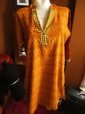 XL AFRICAN PRINT cocktail dress tunic kleid THIN COTTON!