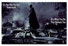 "Batman The Dark Knight Rises Motivational Quotes Silk Fabric Poster 13x20"""