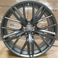 "20"" New ZL1 Style Wheels Gunmetal Stagger Rims Tires Fit Chevy Camaro RS SS LS"