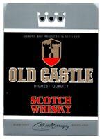 Old Castle Scotch Whisky Whiskey Bottle Label *L5
