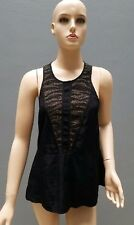 WISH Party Top Size 8/XS Black Gold Sleeveless Summer Cocktail Womens 'Tripper'