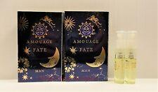 2 Amouage Fate Man Eau de Parfum Sample Spray Vial 2 x 2 ml