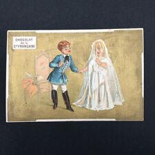Chromo Advertising Golden Chocolat of La Co French Wedding Wedding