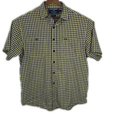Polo Sport Ralph Lauren Sportsman Navy/Yellow Plaid Button Front Shirt Men's L